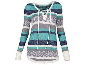 Natural Reflections® Women's Lace-Up Sweater