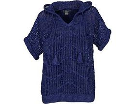 Natural Reflections® Women's Open-Knit Hooded Swea