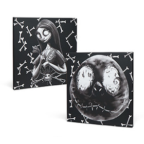 Nightmare Before Christmas Jack and Sally Canvas S