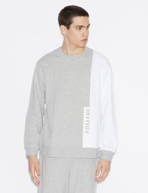 Armani TWO-COLOUR SWEATSHIRT WITH PRINT