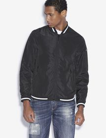 Armani STRIPED TRIM BOMBER JACKET