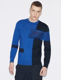 Armani PULLOVER WITH CONTRASTING PANELS