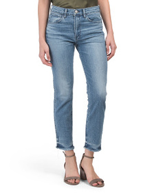 3x1 Made In Usa W3 High Rise Straight Cropped Jean