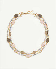 Crystal Stone Statement Necklace