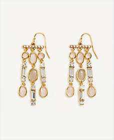 Crystal Stone Statement Earrings
