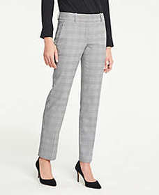 The Straight Pant in Glen Plaid - Curvy Fit
