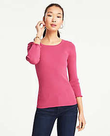 3/4 Sleeve Perfect Pullover
