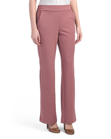 ONE 5 ONE Knit Crepe Pull On Wide Leg Trousers