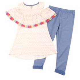 Girls (7-16) One Step Up Aztec Cold Shoulder Top &