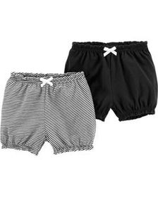 carters Baby Girl 2-Pack Pull-On Bubble Shorts