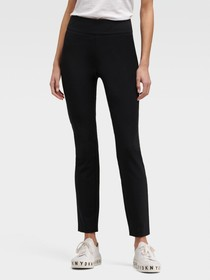 Donna Karan CROPPED STRAIGHT-LEG PULL-ON PANT