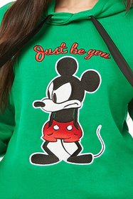 Forever21 Mickey Mouse Graphic Drawstring Hoodie