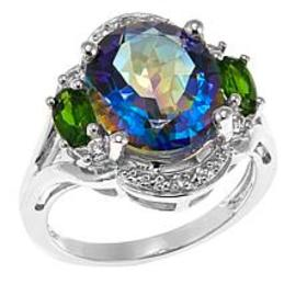 Colleen Lopez Colored Quartz and Gem Sterling Silv