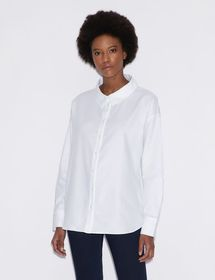 Armani SHIRT WITH EMBROIDERED LETTERING ON THE BAC