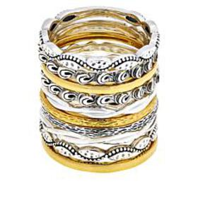 LiPaz 10-piece Sterling Silver and Gold-Plated Sta