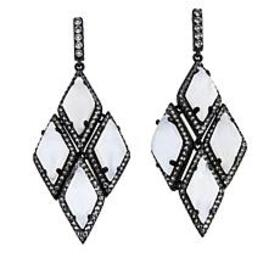 Colleen Lopez Gemstone and White Topaz Drop Earrin