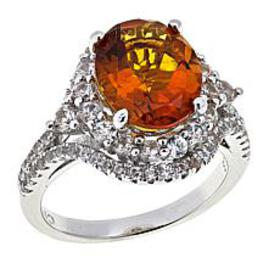 Colleen Lopez 4.28ctw Madeira Citrine and White Zi