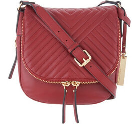 """As Is"" Vince Camuto Quilted Leather Crossbody Bag"