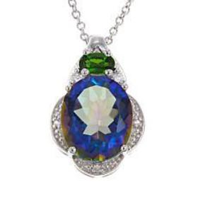 Colleen Lopez Colored Quartz and Gem Pendant with