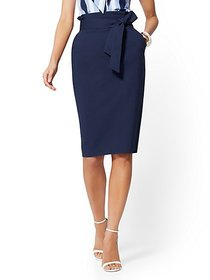 Paperbag-Waist Pencil Skirt - 7th Avenue - New Yor