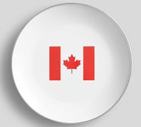 Pottery Barn Canadian Flag Enamel Plate