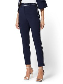 Piped Ankle Pant - All-Season Stretch - 7th Avenue