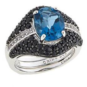 Colleen Lopez 3.98ctw London Blue Topaz and Gem Ri