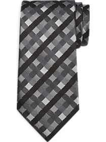 Calvin Klein Black & Gray Check Narrow Tie