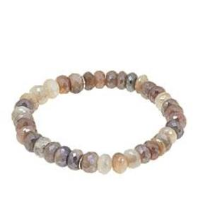 Colleen Lopez Faceted Moonstone Bead Stretch Brace