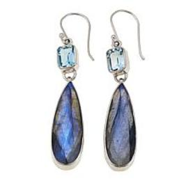 Colleen Lopez Labradorite and Blue Topaz Sterling