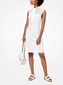 Michael Kors Corded Lace Tie-Neck Dress