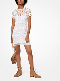Michael Kors Floral Embroidered Mesh Dress