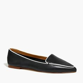 J. Crew Factory Edie leather loafers with piping