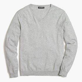 J. Crew Factory Cotton jersey V-neck sweater