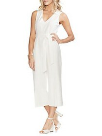 Vince Camuto Essentials V-Neck Jumpsuit NEW IVORY