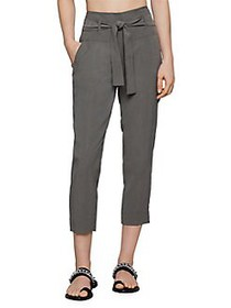 BCBGeneration Belted Cropped Pants DARK MOSS