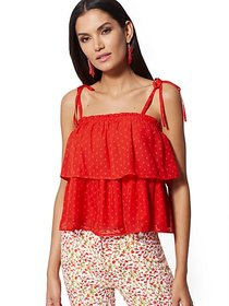 Off-The-Shoulder Tiered Blouse - 7th Avenue - New