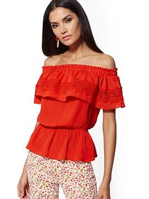 Smocked Off-The-Shoulder Blouse - New York & Compa