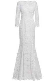 DOLCE & GABBANA Fluted cotton-blend corded lace go