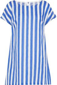 DOLCE & GABBANA Striped linen and cotton-blend min