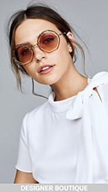 Chloe Tally Round Scalloped Sunglasses