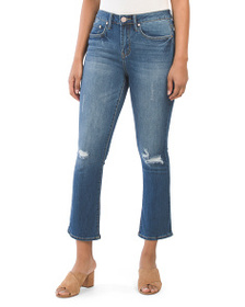 SEVEN7 High Rise Cropped Flare Jeans
