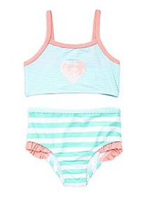 Penelope Mack Little Girl's 2-Piece Striped Sequin