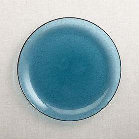 Crate Barrel Bubble Glass Dinner Plate