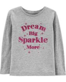 carters Baby Girl Dream Big Sparkle More Tee