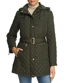 VINCE CAMUTO - Belted Quilted Jacket