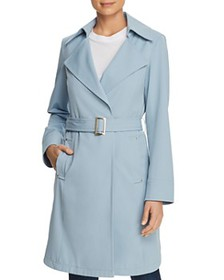 VINCE CAMUTO - Belted Crepe Trench Coat