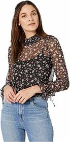 BCBGeneration Smocked Neck Long Sleeve Woven Top