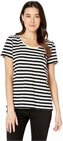 TWO by Vince Camuto Short Sleeve Amour City Stripe