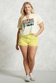 Forever21 Plus Size Distressed Shorts